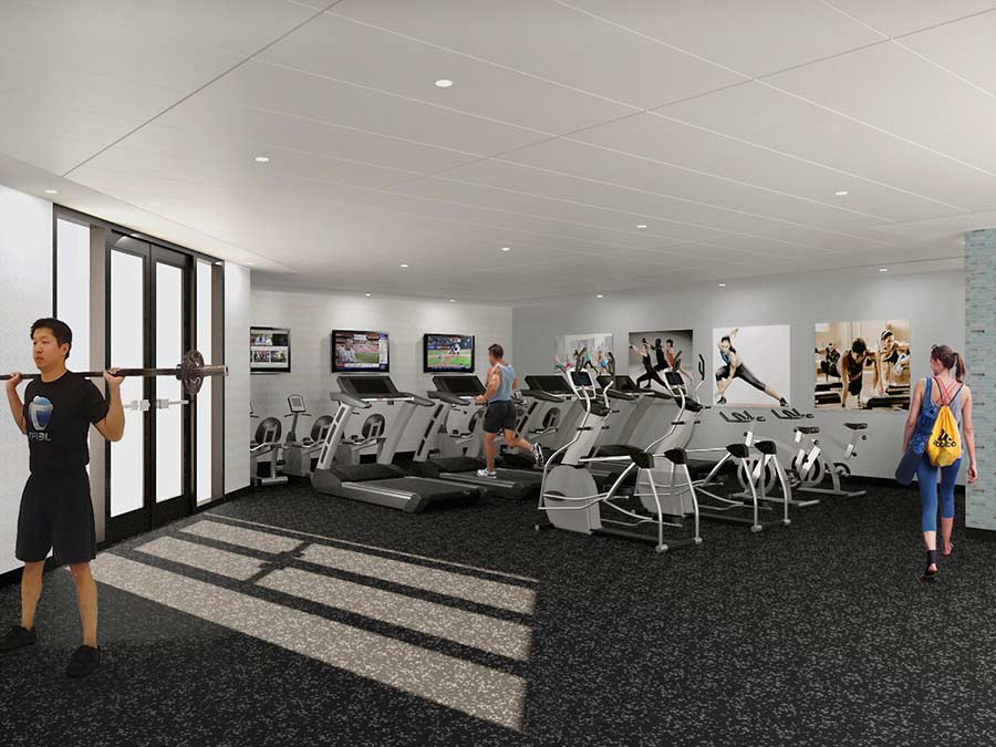Station at Willow Grove features a state-of-the-art fitness center