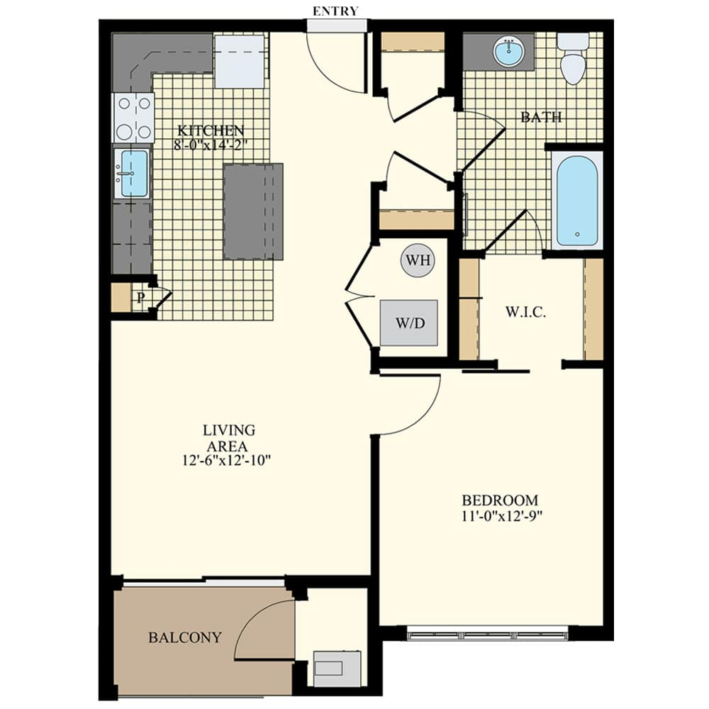 Station at Willow Grove 1 Bedroom Apartment A1