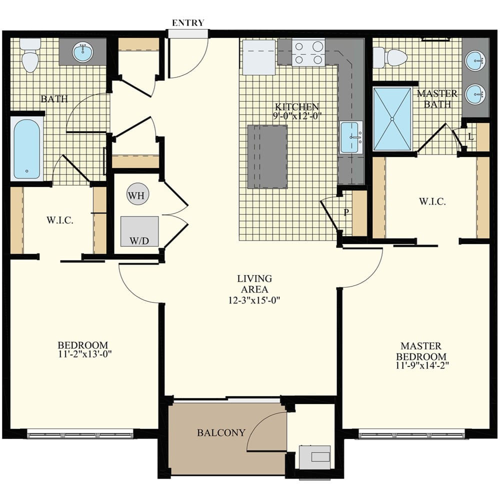 Station at Willow Grove 2 Bedroom Apartment B2