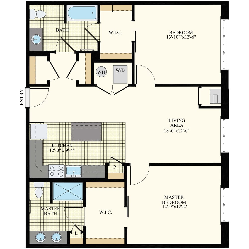 Station at Willow Grove 2 Bedroom Apartment B6