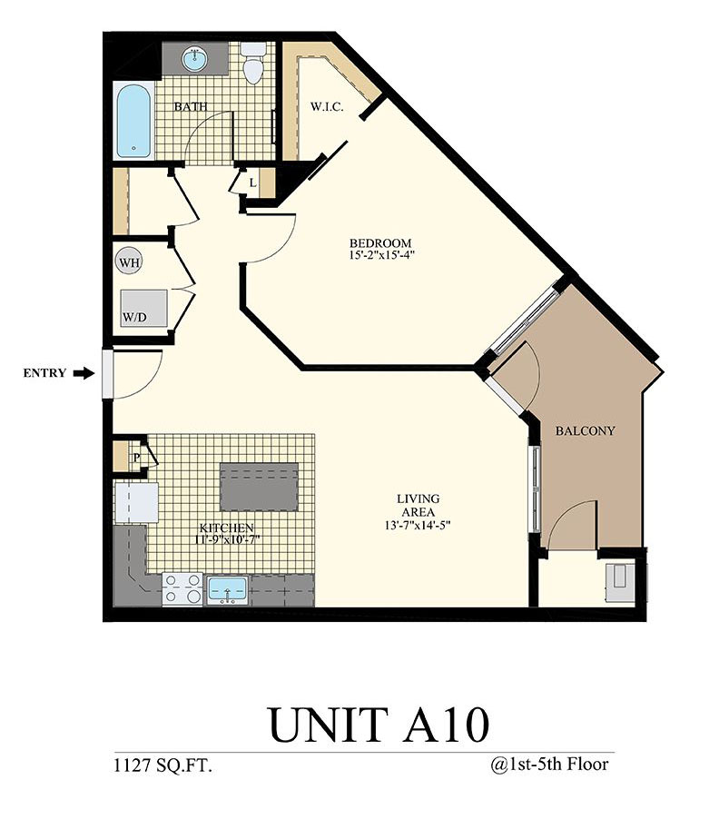 Station at Willow Grove One Bedroom Floor Plan Unit A10
