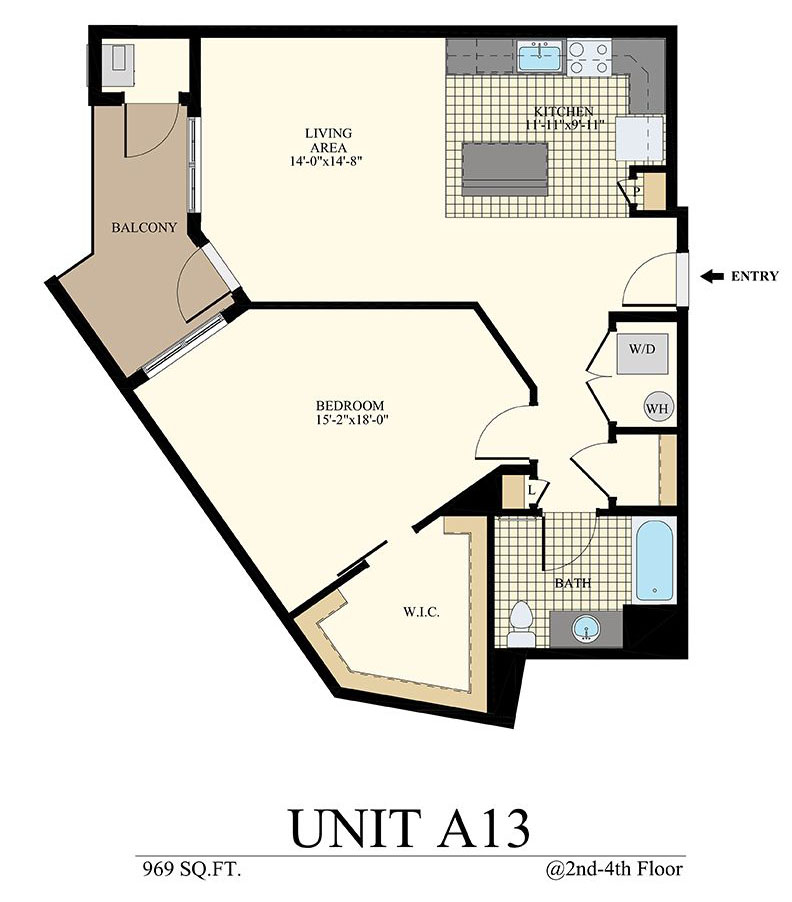 Station at Willow Grove One Bedroom Floor Plan Unit A13