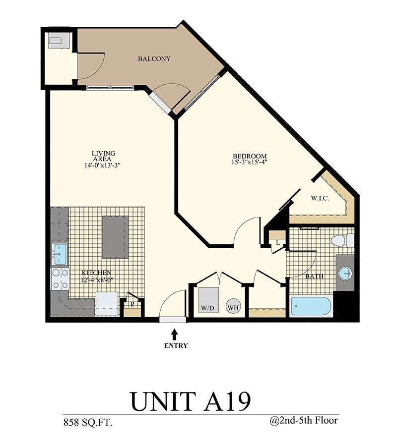 Station at Willow Grove One Bedroom Floor Plan Unit A19