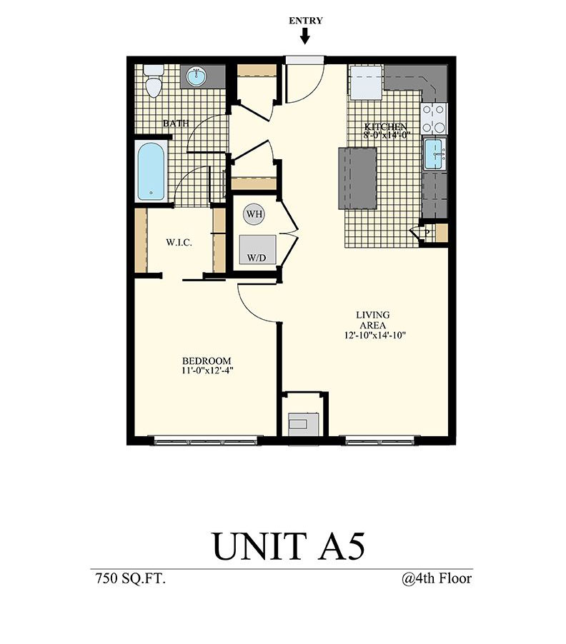 Station at Willow Grove One Bedroom Floor Plan Unit A5
