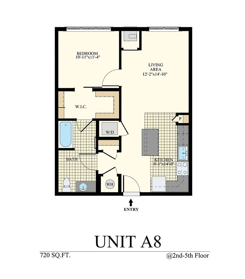 Station at Willow Grove One Bedroom Floor Plan Unit A8