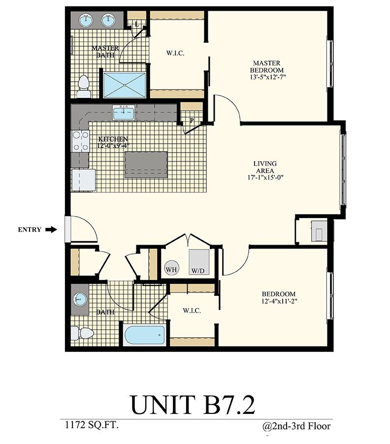 Station at Willow Grove Two Bedroom Floor Plan Unit B7.2