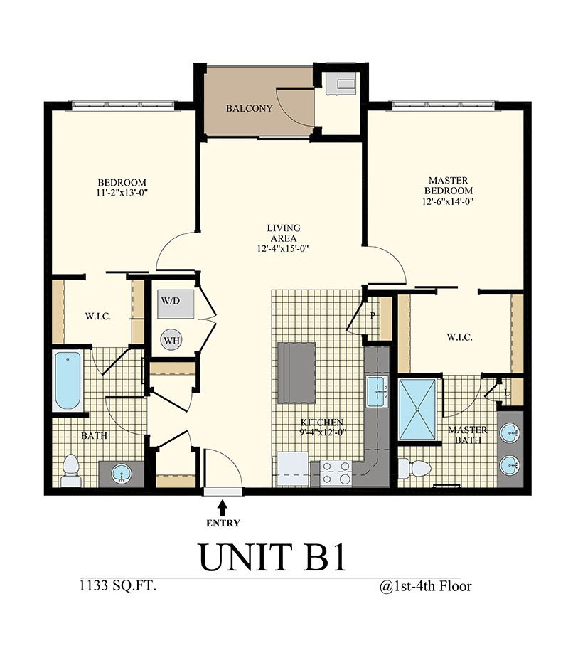 Station at Willow Grove Two Bedroom Floor Plan Unit B1