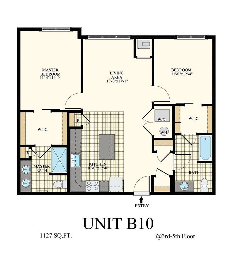 Station at Willow Grove Two Bedroom Floor Plan Unit B10
