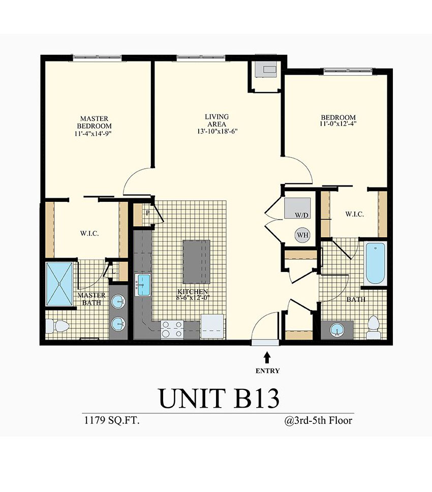 Station at Willow Grove Two Bedroom Floor Plan Unit B13