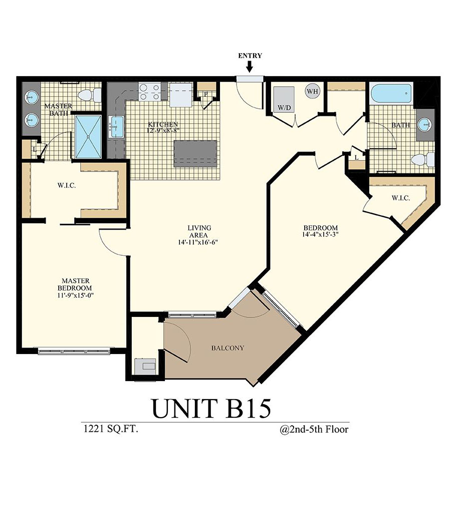 Station at Willow Grove Two Bedroom Floor Plan Unit B15