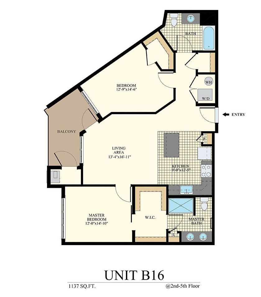 Station at Willow Grove Two Bedroom Floor Plan Unit B16