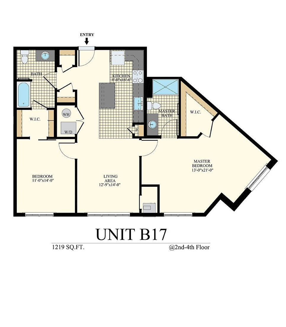 Station at Willow Grove Two Bedroom Floor Plan Unit B17