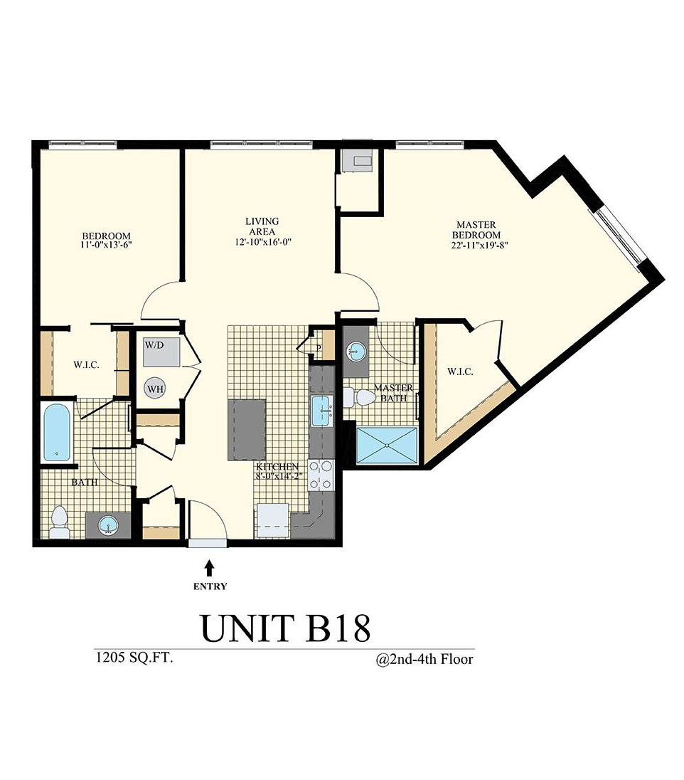 Station at Willow Grove Two Bedroom Floor Plan Unit B18