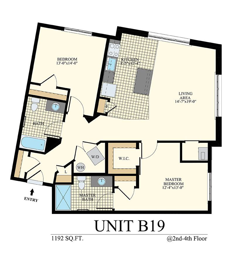 Station at Willow Grove Two Bedroom Floor Plan Unit B19