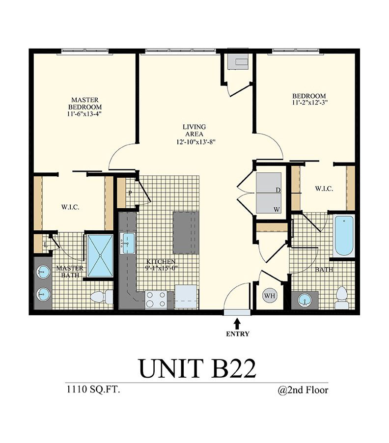 Station at Willow Grove Two Bedroom Floor Plan Unit B22