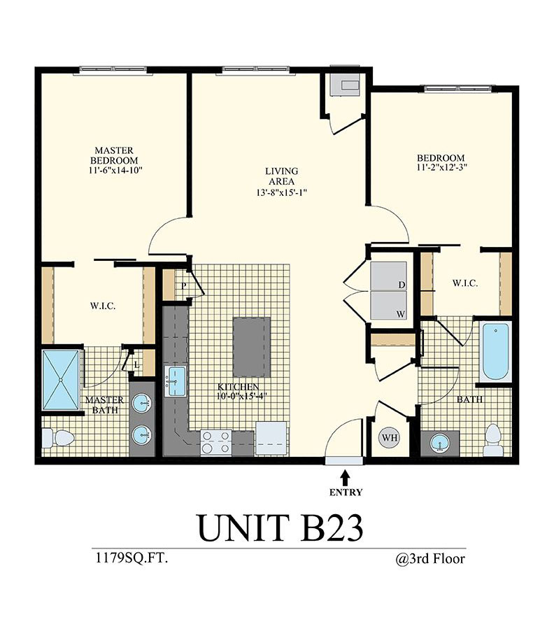 Station at Willow Grove Two Bedroom Floor Plan Unit B23