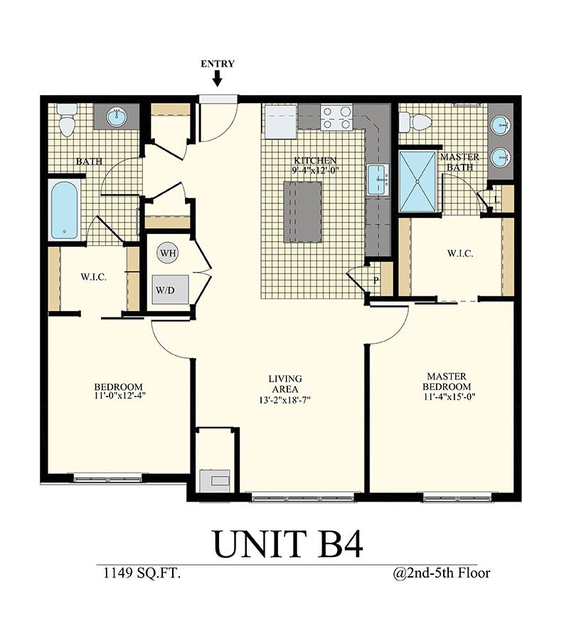 Station at Willow Grove Two Bedroom Floor Plan Unit B4