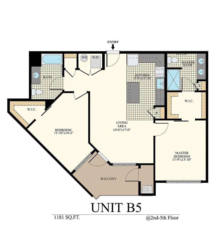 Station at Willow Grove Two Bedroom Floor Plan Unit B5