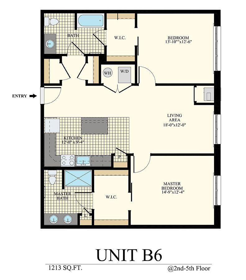 Station at Willow Grove Two Bedroom Floor Plan Unit B6