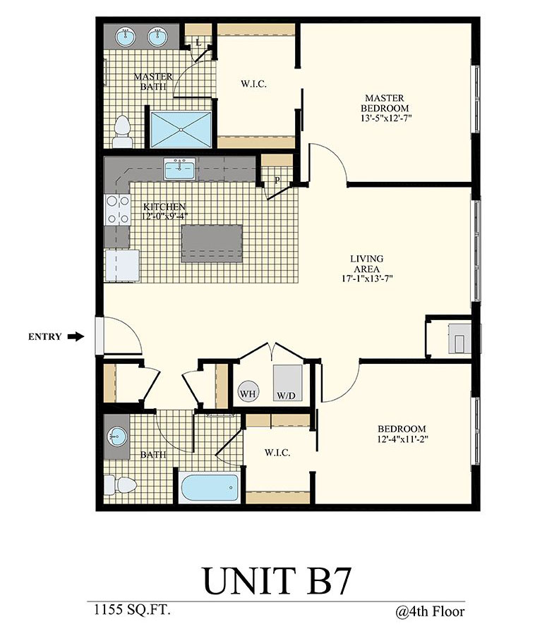 Station at Willow Grove Two Bedroom Floor Plan Unit B7