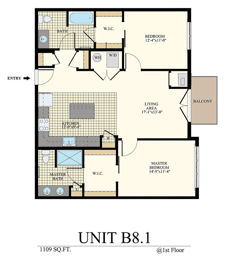 Station at Willow Grove Two Bedroom Floor Plan Unit B8.1