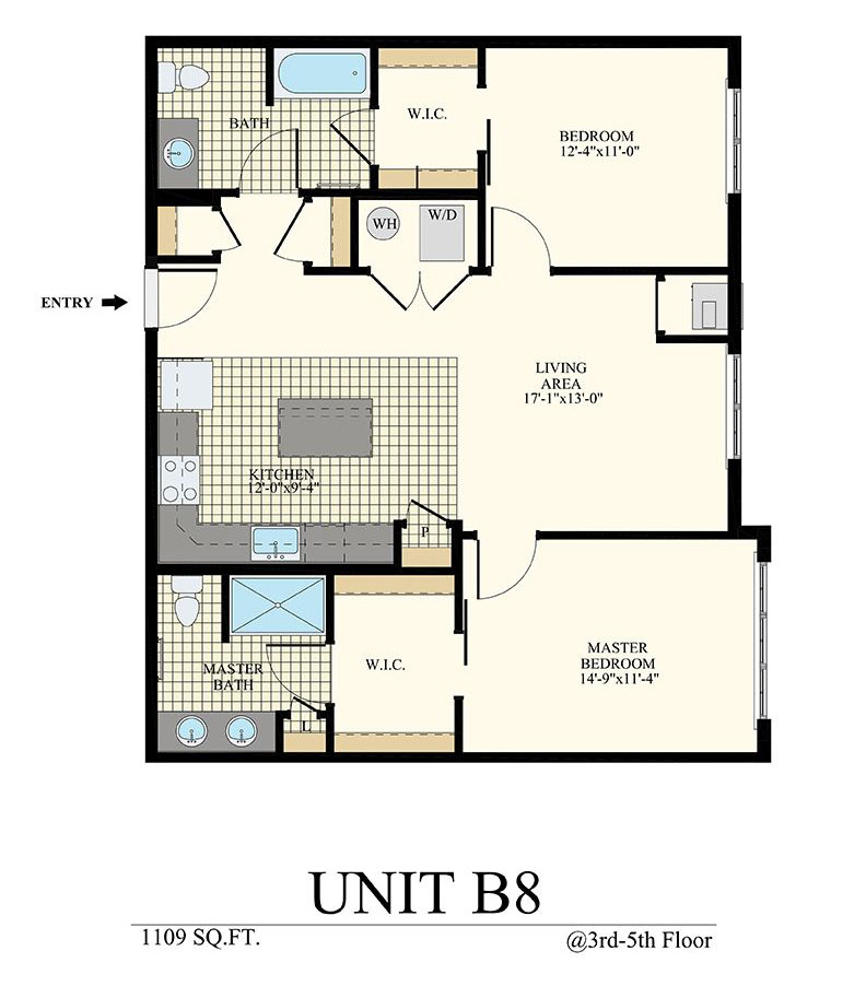 Station at Willow Grove Two Bedroom Floor Plan Unit B8