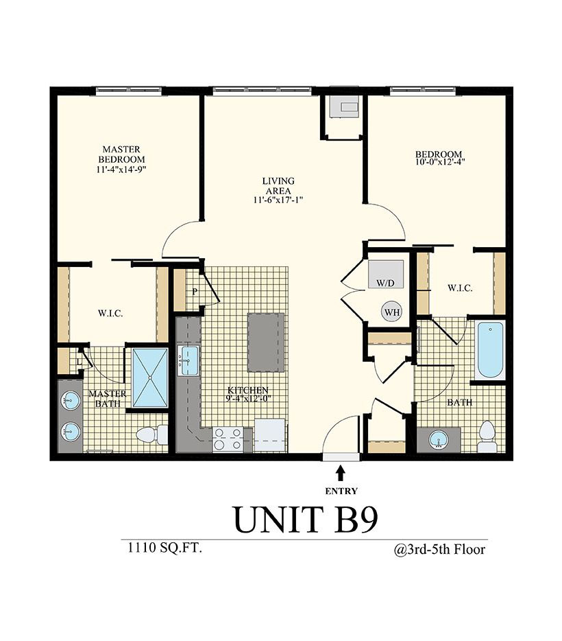 Station at Willow Grove Two Bedroom Floor Plan Unit B9