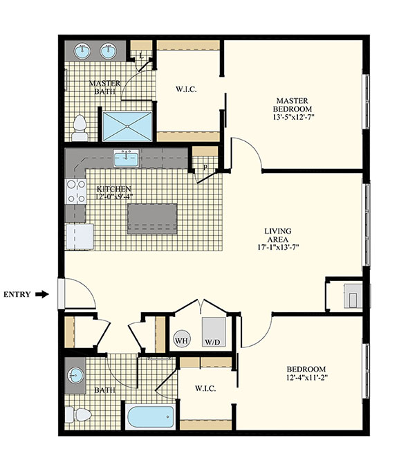 Station at Willow Grove Two Bedroom Floor Plans