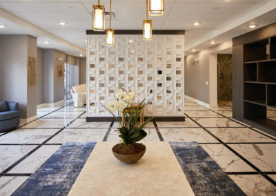 lobby at The Station at Willow Grove apartment rentals