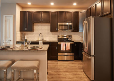 Apartment kitchen in Willow Grove, PA with granite counter tops