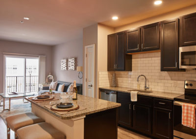 Modern Tiled kitchen in Willow Grove apartment rentals