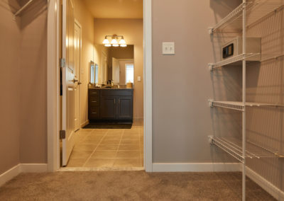 Built in storage and closet space in an apartment in Willow Grove, PA
